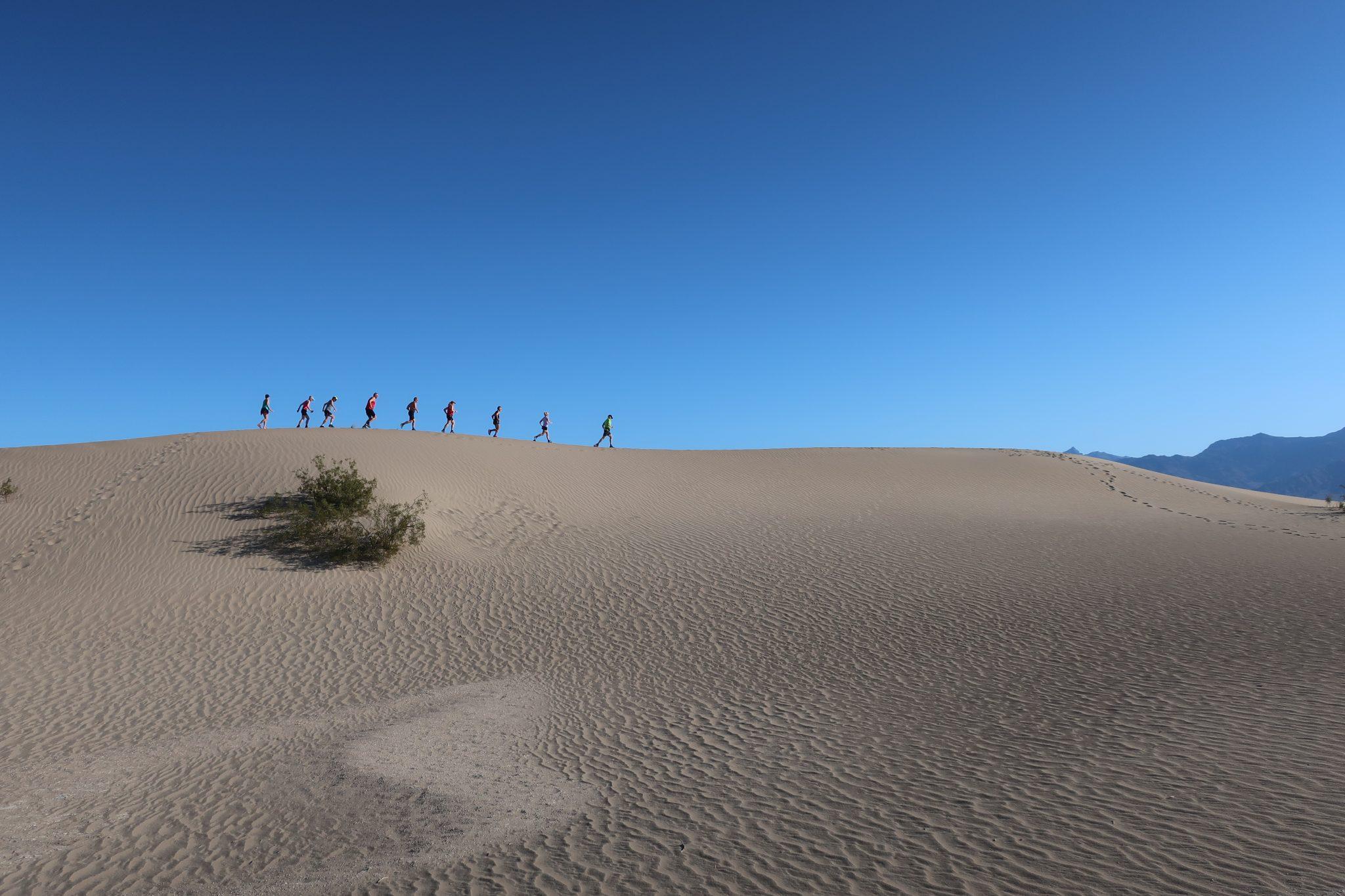 Løb på Sand Dumes ved Death Valley